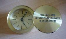 VINTAGE TIFFANY & CO TRAVEL ALARM CLOCK (SWISS SWIVEL DESK HOUSTON WIRE CABLE)
