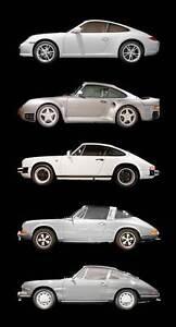 Leinwand Bild Porsche 911 Silber Best Of Classic Design