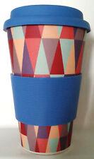 Reusable BAMBOO, Triangle Pattern, Eco-friendly, 400 ML, Coffee, Travel Mug, New