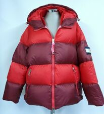 Tommy Hilfiger Red Puffa Jacket, Puffer Coat, Size Small, Down Filled, Hood, Zip