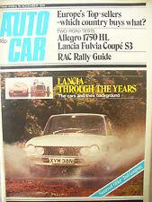 AUTO CAR MAGAZINE NOVEMBER 16TH 1974 Lancia through the years
