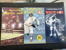 1964-1968 LOT OF 6 CHICAGO WHITE SOX POCKET YEARBOOKS NEVER OPENED!!