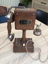TELEPHONE  EN BOIS TYPE 10 VERS 1920