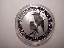Australien 1 Dollar 1999 Kookaburra 1 Unze Silber stempelglanz