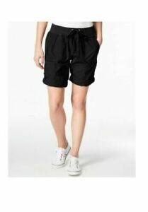 $49  Calvin Klein Performance Poplin Cargo Shorts ,Color: Black ,Size:Small