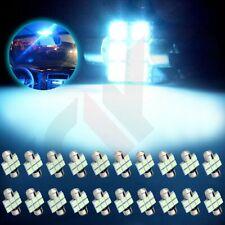 20Pcs DE3175 5050 6SMD LED Bulb Interior 31mm Festoon Lights For Car Ice Blue