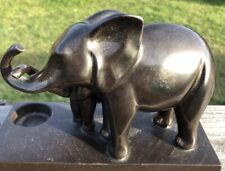 PartyLite Trumpeting Elephant With Calf Votive Holder Ceramic 6 1/2� Tall X 9�