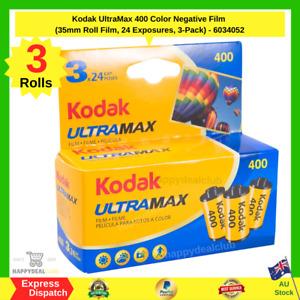 Kodak UltraMax 400 Color Negative Film (35mm Roll Film, 24 Exposures, 3-Pack) AU