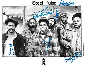 Steel Pulse Band signed 8x10 inch photo autograph