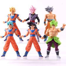6Pcs/Set Dragon Ball Super Broly Goku Black Rose Son Goku PVC Figure Model Toy