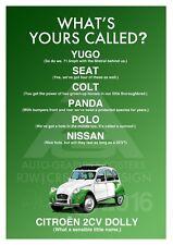 Citroen 2CV Dolly A3 Advert Poster Illustration