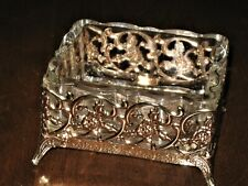 VICTORIAN FANCY JEWELRY OR CHANGE HOLDER GLASS VANITY TRAY