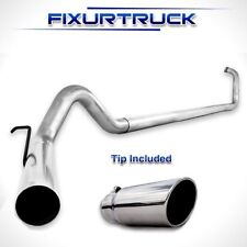 "MBRP 4"" Exhaust 03-07 For Ford Powerstroke 6.0L F250 F350 NO Muffler w/ tip"