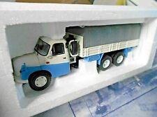 TATRA  T138 T 138 Pritsche + Plane LKW PKW Truck blau wei 450375000 Schuco 1:43