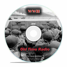 World War II Radio Broadcasts, WWII, 1,171 Old Time Radio Shows, OTR, DVD CD G03