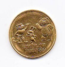 24K Gold Plated 25 rouble 2012 UNC Coin Sochi Olympic Games