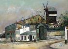 Framed canvas art print Giclee Moulin de la Galette, Montmartre