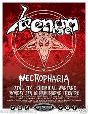 Venom / Necrophagia/Fatal Fix/Chemical Warfare 2016 Portland Concert Tour Poster