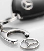 Original Mercedes-Benz Schlüsselanhänger Einkaufswagen Chip silberfarben NEU OVP