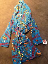 MADE WITH LOVE AND KISSES BLUE CANDY FLEECE ROBE YOUTH SIZE 10-12