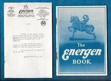 1949 ENERGEN ADVERTISING RECIPE & INFORMATION BOOKLET