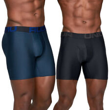 Under Armour Mens Tech 6 Inch Wicking 2 Pack Boxer Shorts