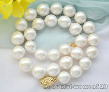Z6927 HUGE 15mm WHITE ROUND Edison REBORN PEARL NECKLACE 17inch AA++