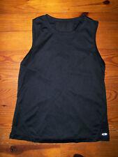 Women's Juniors Solid Black Athletic Sleeveless CrewNeck Shirt Size Small