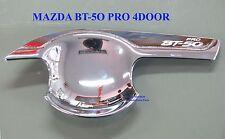 CHROME HANDLE HAND INSERT BOWL DOOR COVER FOR 4 DOOR NEW MAZDA BT-50 PRO 2012