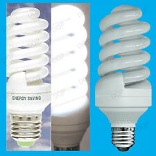6x 25W Daylight 6400K SAD White Light Bulbs, Low Energy Power CFL, ES E27 Lamps