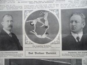 1911 Zirkus Variete Artistik Trapez Drei Facoris