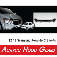 Acrylic Bug Hood For 12 13 Ssanyong Korando C Sports