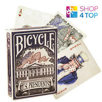 BICYCLE US PRESIDENTS PLAYING MAGIC TRICKS POKER CARDS DECK STANDARD BLUE NEW
