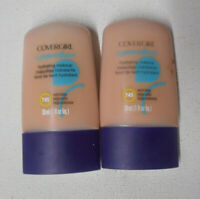 2 tube lot COVERGIRL CG SMOOTHERS ALL DAY HYDRATING MAKEUP 745 WARM BEIGE uns