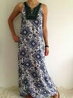 Women's Sleeveless Boho Gypsy Floral Summer Maxi Casual Dress Size 8-10-12-14