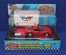 Road Champs O 1:43 1997 Corvette Hardtop Red MIB 1997 w Billboard