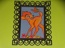 CADRE CARTE FLOQUEE - BAMBI - WALT DISNEY - 1962