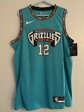 Ja Morant Blue Memphis Grizzlies Vancouver City Jersey Size Large New With Tags