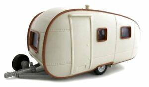 TRAILER Wohnwagen / Camper - cream - Cararama 1:43