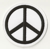 Ecusson patche Peace and Love blanc thermo hotfix patch brodé transfert badge