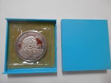 Merry Christmas 1990 Silver Coin 1 Troy ounce 999 Santa Claus MINT in plastic