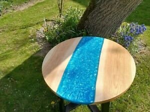 Epoxy Round Coffee Table Top Living Room Wooden Resin Modern Furniture