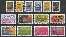 France 3536-3549 Bonne Fetes  (14 USED Stamps from 2008)