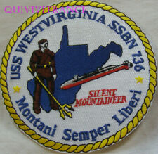 PUS278 - US NAVY USS WESTVIRGINIA SSBN 736 PATCH SOUS-MARIN NUCLEAIRE