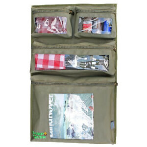 Camp Cover Door Storage System - 4 Pocket - Khaki Ripstop - CCH005-A