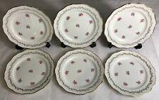 Lot1 De 6 Grandes Assiettes En Demi Porcelaine L'amandinoise France D 24 Cm