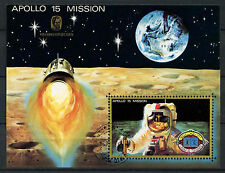 Umm Al Qwain 1970's Space Apollo 15 Cto Used M/S #A96228