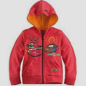 Disney Excusive Cars 8 9-10 Large Sweatshirt Jacket Hoodie New Child Piston Cup
