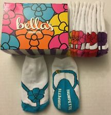 Trumpette Bella's Girl Flip Flop Baby Socks 0-12M Nib Multi Color New 6 Pairs