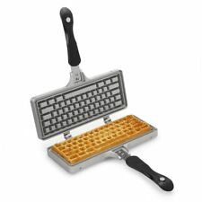 The Keyboard Waffle Iron Novelty Waffle Maker Computer IT Office Geek Present